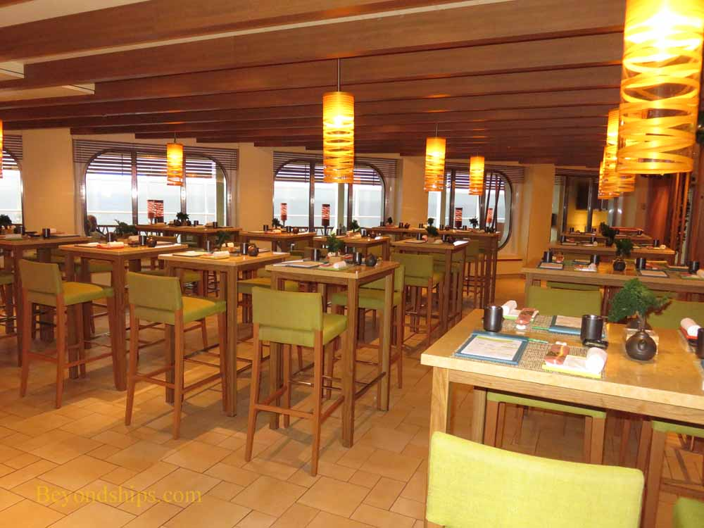 Carnival Vista, cruise ship, Bonsai sushi