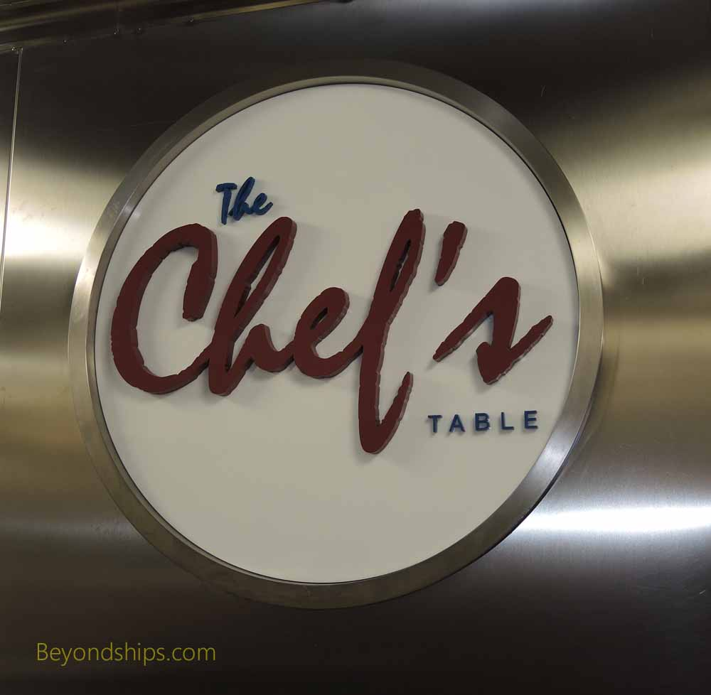 Carnival Vista, cruise ship, Chef's Table