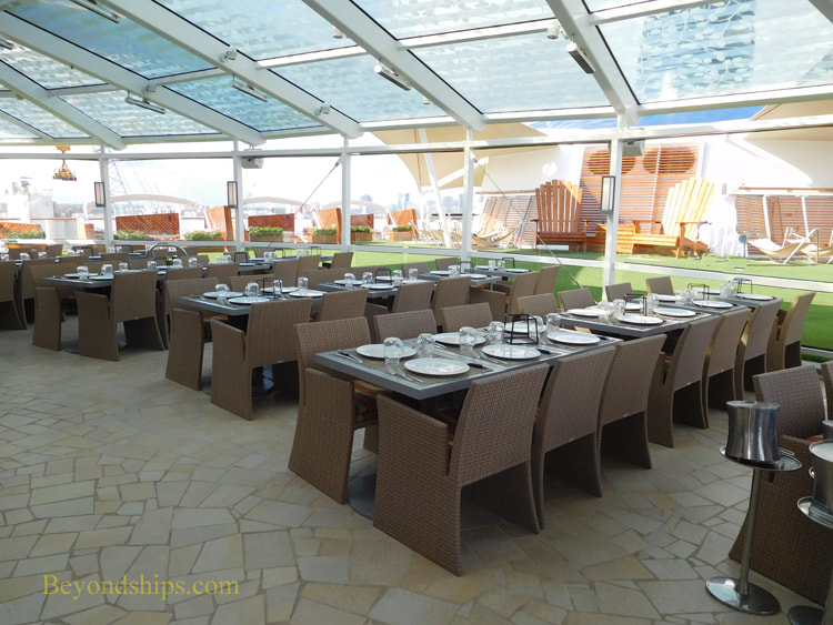 Picture Cruise ship Celebrity Reflection Lawn Club restaurant