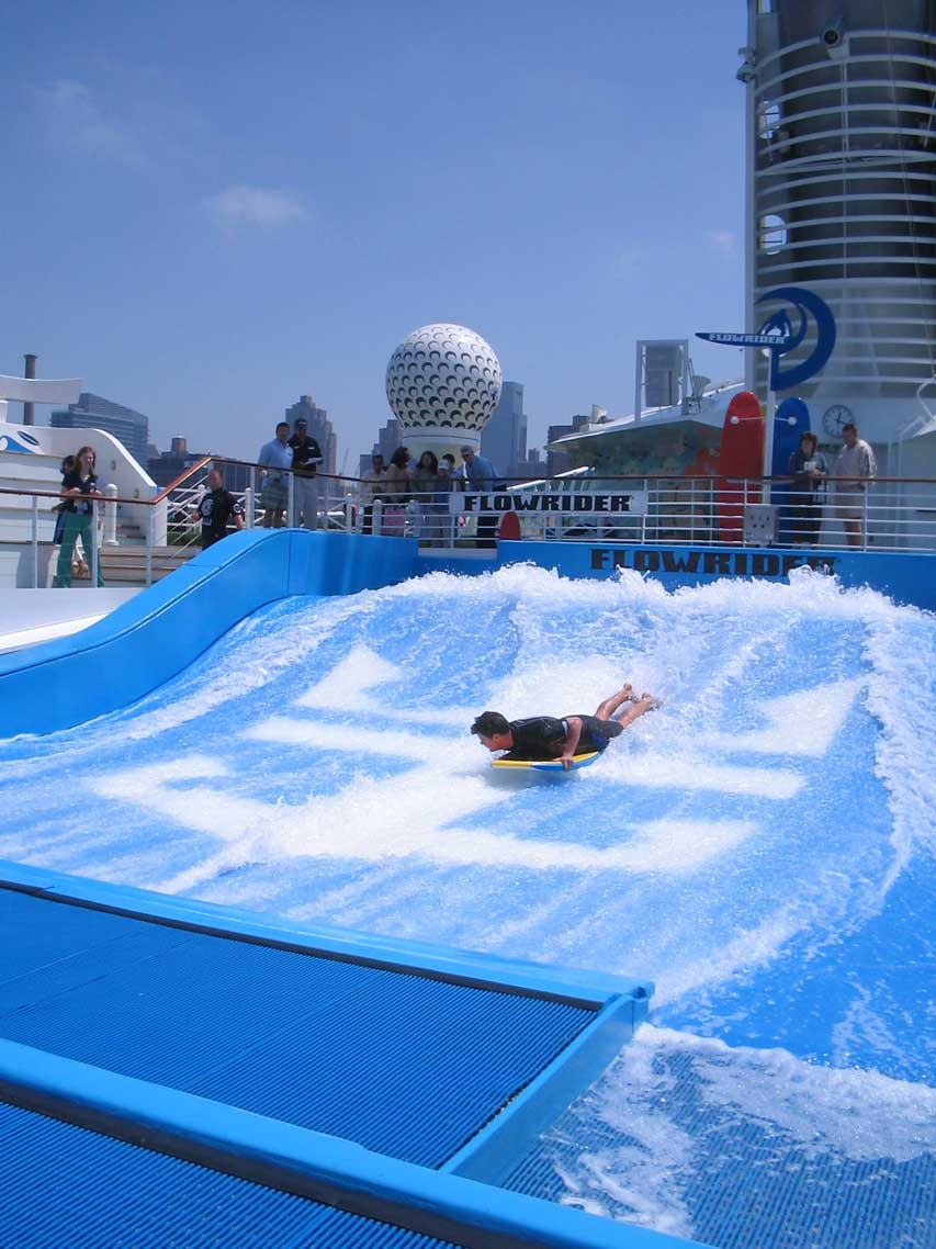 Cruise ship Freedom of the Seas,, flowrider