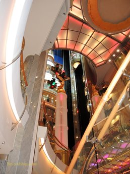 Freedom of the Seas cruise ship, atrium